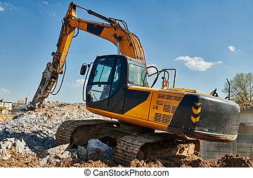 interruttore, scavatore, idraulico, hydrohammer, demolizione, secondario