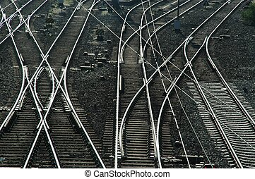 interruttori, piste ferrovia