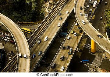 interseção, rodovia