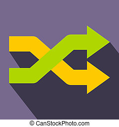 Intersecting arrows flat icon