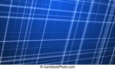 Fractal Lines on Blue Background. - Intersecting Colored...