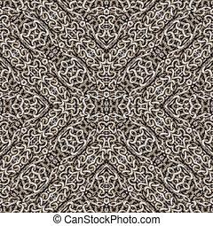 Intersecting Geometric Chains Seamless Pattern Mosaic