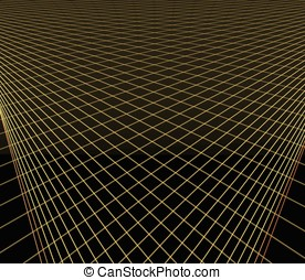 Intersecting Lines - -- a digital render resembling computer...
