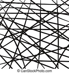 intersecting lines stripes, random grid, thickets of...