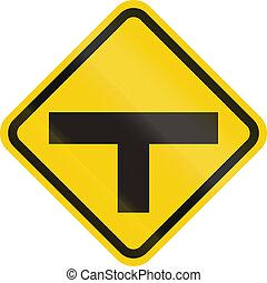 intersection, devant, colombie