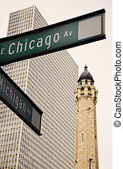 Intersection of CHicago and Michigan