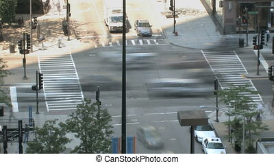 Intersection Time Lapse - Time lapse of a large intersection...