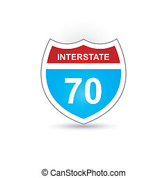 interstate 70  sign
