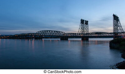Interstate Bridge Time Lapse - Interstate Bridge also...