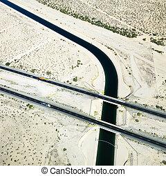 Interstate crossing aqueduct.