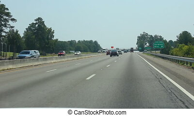 driving on the interstate near exit