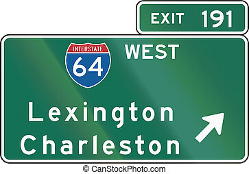 Interstate Guide Sign