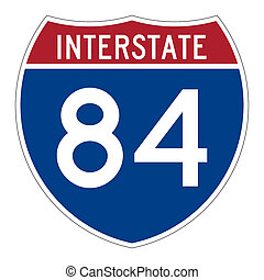 Interstate highway 84 road sign