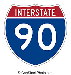Interstate highway 90 road sign