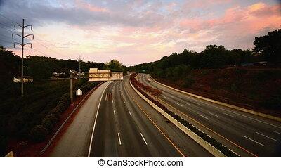 interstate time lapse