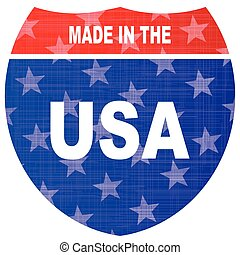 Interstate Made In The USA Sign