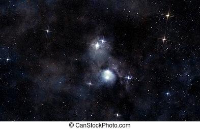 Interstellar cloud in deep space - A picture of interstellar...
