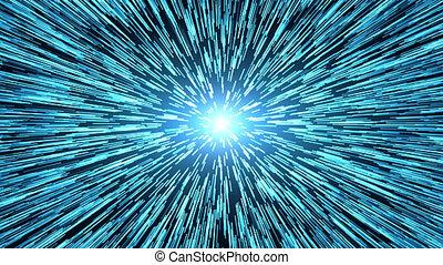 interstellar., hyper, vagues, trou ver, tunnel, énergie, voler, gravitational, space., ou, saut, singularité, par, vortex., temps, résumé, concept., spacetime, voyage