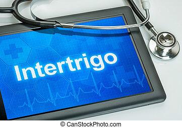 intertrigo, diagnostic, tablette, exposer