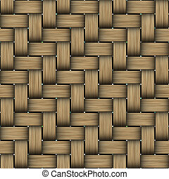 seamless texture of intertwined brown wooden strings