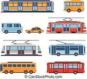 interurbain, transport, ville