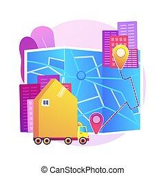 Interurban migration abstract concept vector illustration. ...