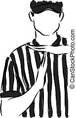 intervalo, gesto, treinador, ilustração