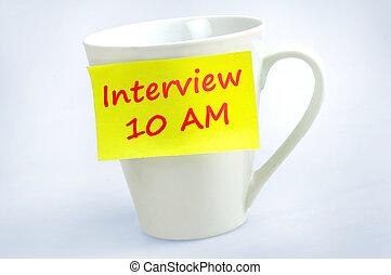 Interview 10 AM word