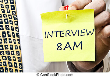 Interview 8 am