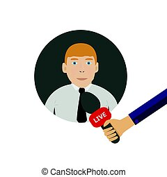 interview, abbildung, online