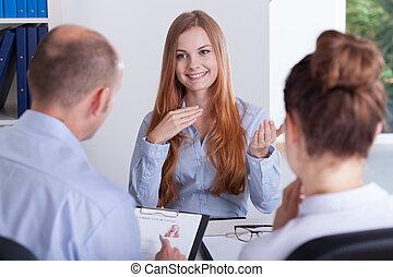 interview, arbejde