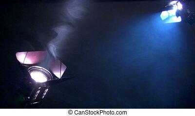 interview background spotlights