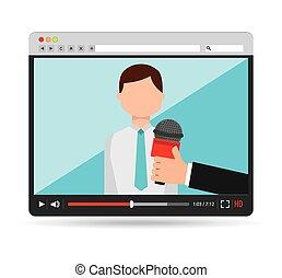 interview concept design, vector illustration eps10 graphic