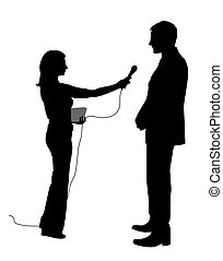 Illustration of an interview. EPS file available.
