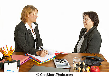 Interview in the office