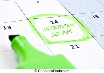 Interview mark