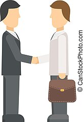 Interview panel listening to applicant in office business job