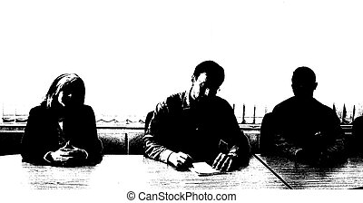 Interview panel - Silhouette of an interview panel