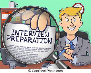 Interview Preparation through Lens. Doodle Design.