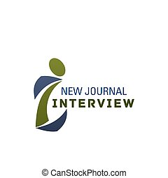 Interview symbol or icon