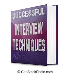 Interview techniques concept. - Illustration depicting a...