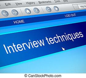 Interview techniques concept. - Illustration depicting a ...