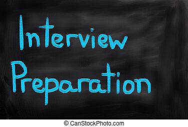 interview, voorbereiding, concept