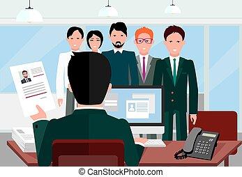 intervista, assunzione, reclutamento