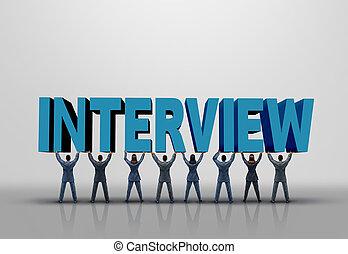 intervista, concetto, affari