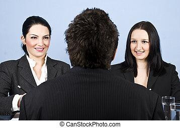 intervista, lavoro, affari