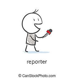 intervju, reporter