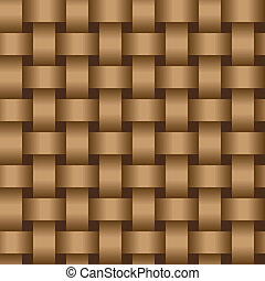 Interweaving brown tapes - texture vector eps8