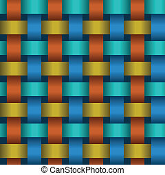 Interweaving color tapes - an abstract texture vector eps8