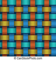 Interweaving color tapes - texture vector - Interweaving...